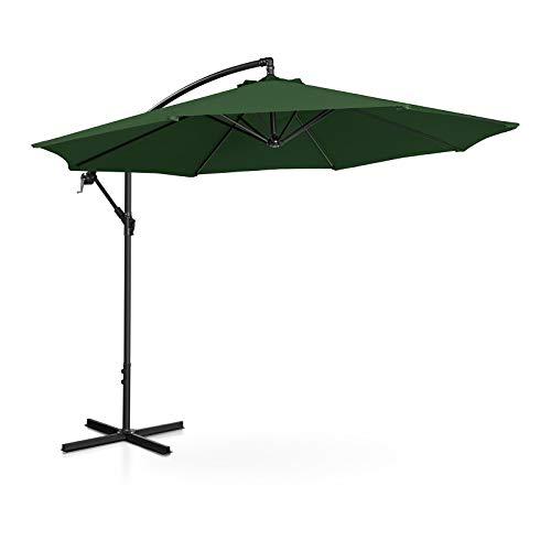 Uniprodo Ampelschirm Uni_Umbrella_R300GR Gartenschirm (rund, Ø 300 cm, neigbar, grün)
