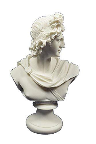 Estia Creations Apollo–Escultura Busto Antiguo