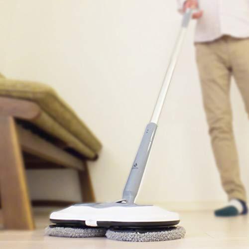 livease/リヴィーズ コードレス回転式電動モップ (水スプレー付き)|RM-011G|水スプレーで簡単水拭き!雑菌99%以上除去!