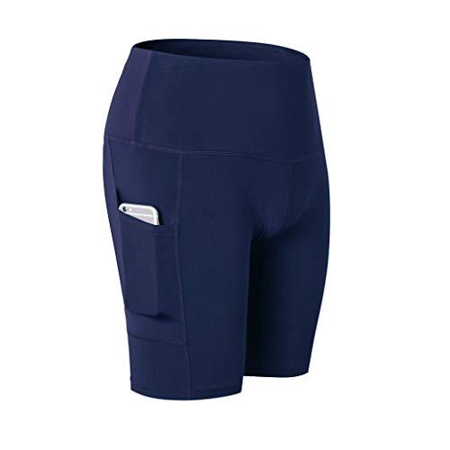 Gogoodgo vrouwen hoge taille shorts, yoga korte buik controle training hardlopen yoga broek