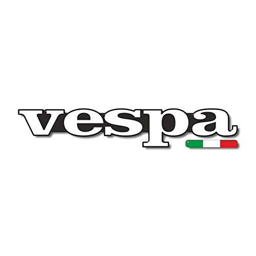 Adhesivo Resina Letras 3D 12cm compatible con Piaggio Vespa Y Bandera Italiana