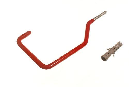 Lot de 20 Rouge Garage mur Utility Hook Outil universel avec vis tamponnée