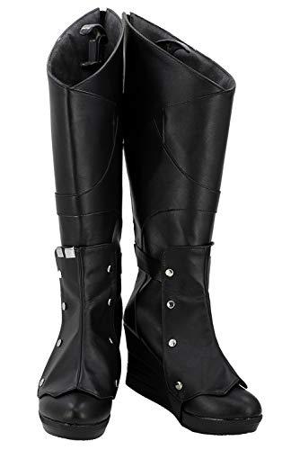 RedJade Gamora Zen Whoberi Ben Titan Guardians Galaxy Stiefel Karneval Schuhe Cosplay Boots Damen Schwarz 38.5