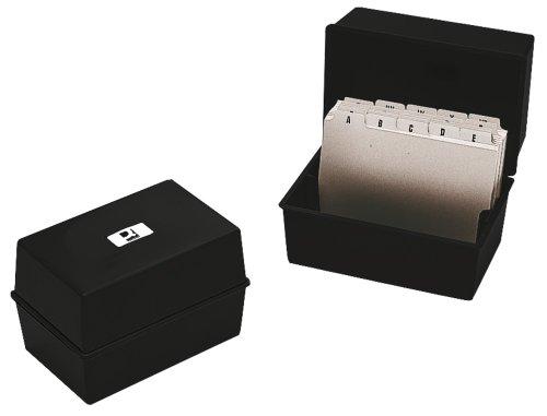 Q Connect KF10020 - Tarjetero de escritorio, negro