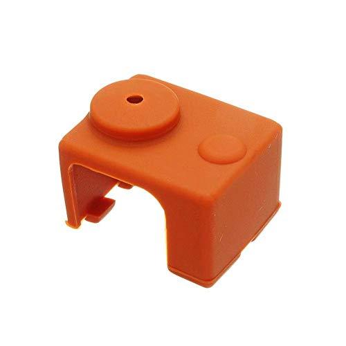 KANJJ-YU Accesorios de Impresora 3D, Accesorios de Impresora 3D, De Aluminio Hotend De Silicona Caso De Aislamiento De Calcetín Para V6 PT100 Bloque 3D Impresora Parte De La Impresora Placa Base ,