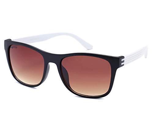 Alsino Lunettes de soleil Hipster légères avec protection UV 400 Viper Eyewear Collection dans différents modèles Homme Femme Unisexe, Noir