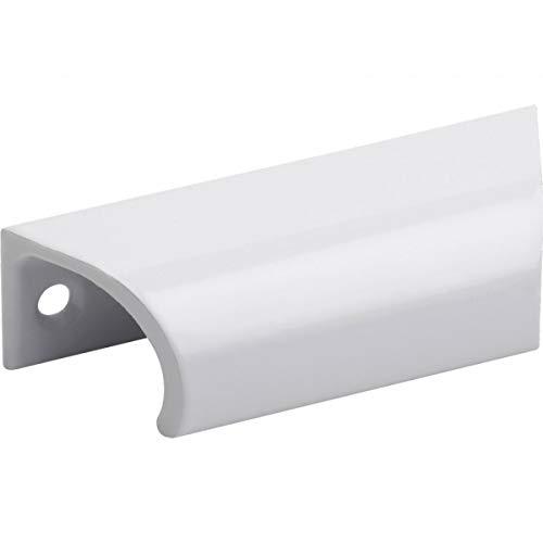 Möbel-/Zierbeschläge Hebetürgriff 57 mm weiß