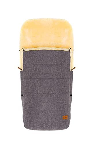 Fillikid Lammfellfußsack Bernina für Kinderwagen, Buggy   Winterfußsack wind- & wasserabweisend   Warmer Fußsack Oberteil abnehmbar, echtes Lammfell herausnehmbar   Baby Fußsack ab 0 Monate