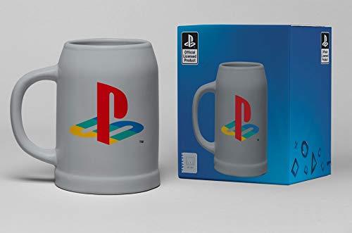 Playstation Jarra de cerveza, unisex, multicolor, de cerámica, para fans de los fanáticos, gaming, retro