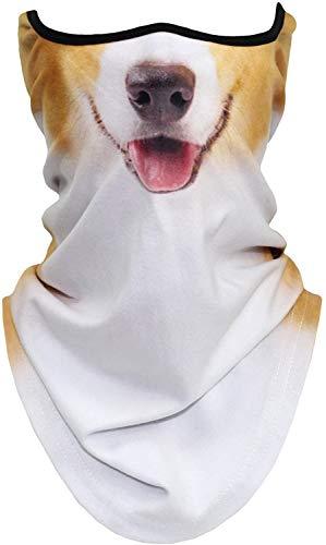 WTACTFUL - Polaina para cuello con animales 3D, resistente al viento, mscara facial para esqu, Halloween, disfraz de calavera, fantasma