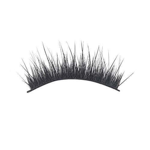 Winwinfly Clothful Fake Eyelashes, Cross Upper Layer 3D Multi-Layer 3 Pairs of Pure Handmade False Eyelashes
