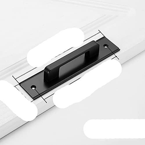 Manijas de puerta negras de aleación de aluminio para puertas interiores, tiradores de puertas de cocina de dormitorio, manijas de muebles, herrajes para puertas, HoleC-150