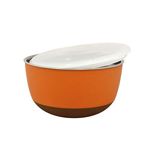 DUVO 7561207 Mangeoire en Acier avec Couvercle 22,5 cm 2900 ML Orange
