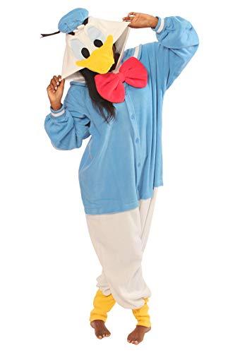 Kigurumi cosplay costume Disney 2 Pyjamas Costume Kawaii Importe du Japon (Donald Duck) - Adultes (1m50 a1m80)