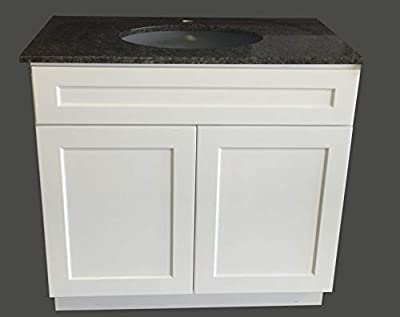 "36"" Wide x 21"" Deep New White Shaker Single-sink Bathroom Vanity Base Cabinet WS-V3621"
