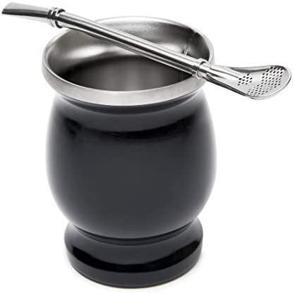 El Tigre Double Wall Stainless Steel Yerba Mate Set Includes Yerba Mate Gourd Cup With Two Bombillas product image
