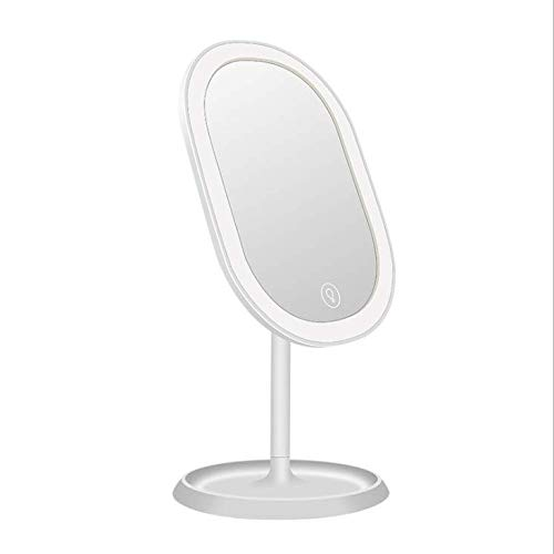 Miroir De Maquillage Lumineux Cosmetic Lampe De Table Beauté LED Lights USB Charge Smart Fill Light HD Cosmétique Miroir Multi-Fonction Dressing Miroir Cadeau