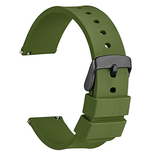 PAZHOU Reloj de Reloj 14 mm 18 mm 20 mm 22 mm 24 mm Silicone Sport Reloj Correa Hombres Mujeres Pretendero Banda de Goma Pulsera de Goma Hebilla Inoxidable