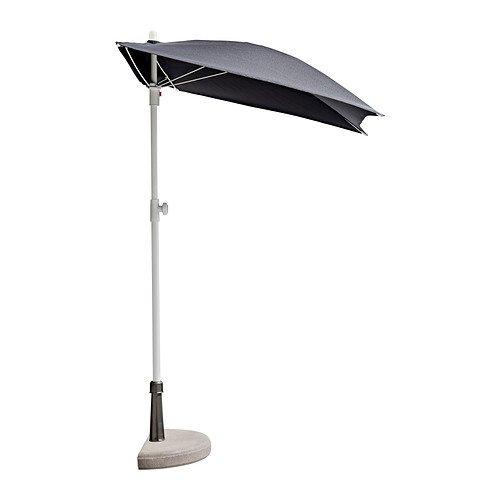 Ikea BRAMSON/FLISO Sonnenschirm mit Fuß, schwarz, 60 x 37 cm