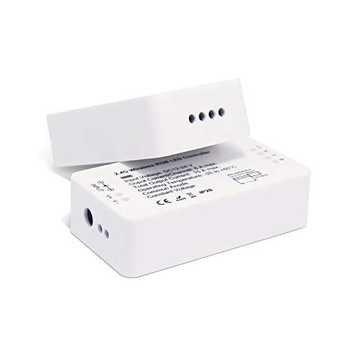 12/24V ZigBee RGB + warmwit + koudwit MULTI LED-controller Multi LED voorschakelapparaat geschikt voor bijvoorbeeld voor Philips HUE, Amazon Echo Plus, Osram Lightify, IKEA Tradfri, Homee, Smart Friends.