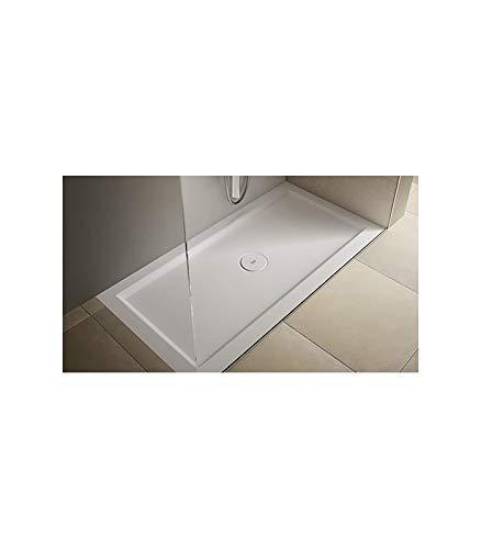 Teuco - Douchebak rechthoekig wit mat Papier - 100x75, Ondoorzichtig wit, Op voorraad