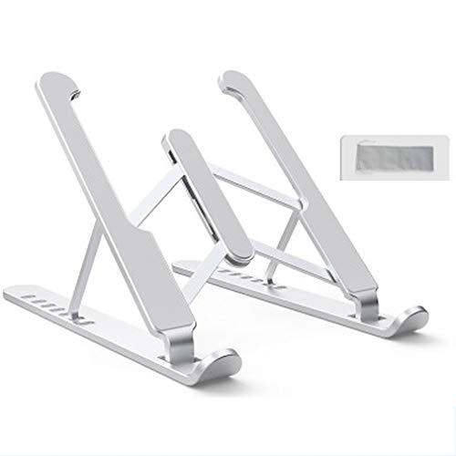 JGAIHW Laptop Table Stand Adjustable Riser Laptop Stand – Portable Laptop Stand with Storage Bag Ergonomic Adjustable 6/7 Levels Height Adjustment, Silver