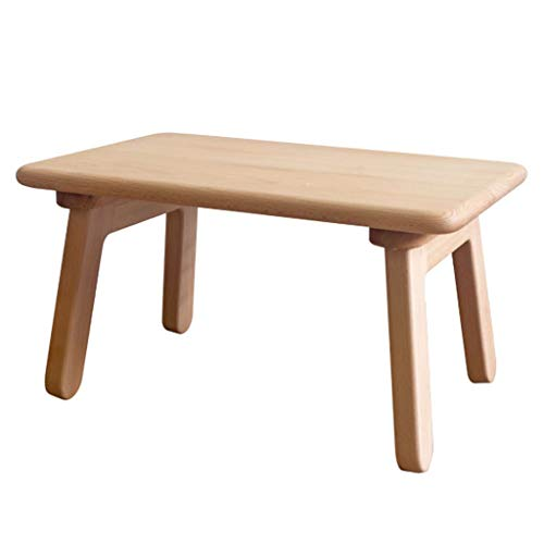Fashionable Side Table L Solid Wood Low Table L Wooden Bracket Low Table L Scandinavian Laptop Desk L Multi-Functional Interior Coffee Table