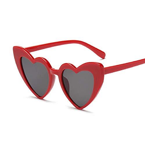 whcct Gafas de sol con forma de corazón para mujer Gafas de sol de plástico para mujer Gafas de sol transparentes con montura transparente