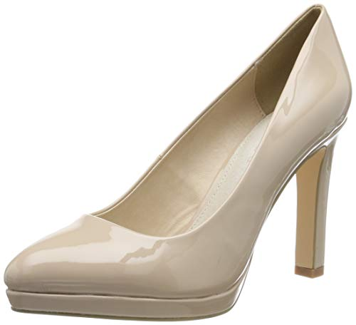 Buffalo Damen H748-1 New Pumps, Beige (Nude 01 000), 38 EU