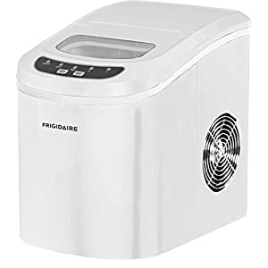 FRIGIDAIRE EFIC108-BWHITE Portable Compact Maker, Counter Top Ice Making Machine, White