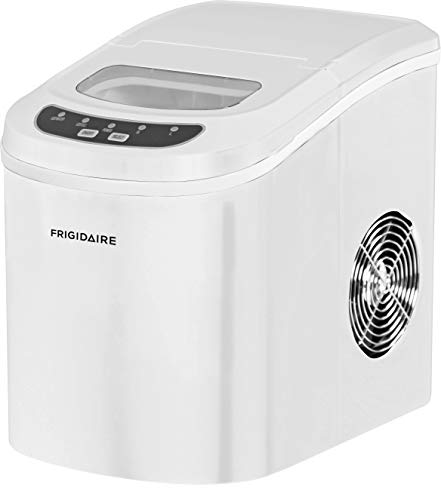 Frigidaire EFIC108-WHITE Portable Compact Maker, Counter Top Ice Making Machine, White
