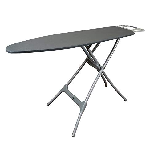 HOMZ Durabilt W Rest Steel Heavy Duty Ironing Board, Grey