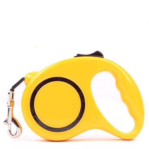 Zhfdsfgy Correa automática para Mascotas, Correa retráctil automática, Correa para Perros, Correa para Mascotas (5M,Yellow)