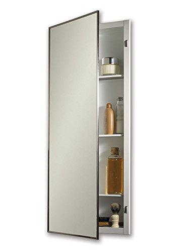 "Jensen 840P34CHX Stainless Steel Frame Medicine Cabinet, 16"" x 36"""