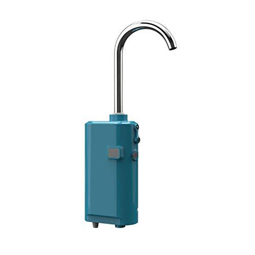 Bomba De Oxígeno Recargable Práctica Pesca Al Aire Libre Portátil Inteligente Luz Led Bomba De Aire Extractor De Agua De Inducción Inteligente Azul
