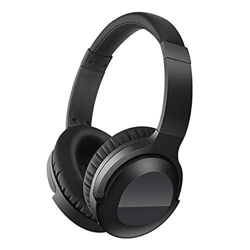 Pkfinrd Gaming Kopfhörer Active Rauschkündigungskopfhörer Bluetooth 5.0 HiFi Stereo Faltbares Headset 10H Spielzeit Komfortable Eiweißohre Ohrhörer Ohrhörer (Color : Black)