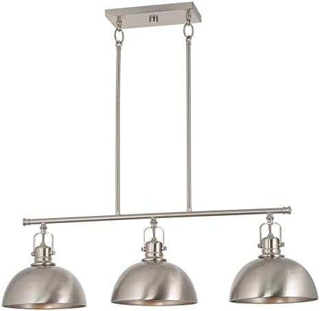 Kira Home Belle 34 3 Light Modern Industrial Kitchen Island Light Dome Shades Swivel Joints product image