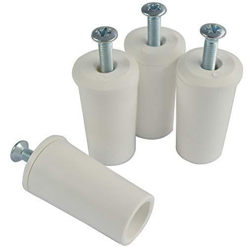 4 Stück (2 Paar) Anschlagstopper Anschlagstopfen für den Rollladen in Weiß