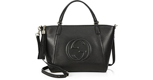 Fashion Shopping Gucci Soho Leather Top Handle Bag Zip Gold Leather Shoulder Italy Handbag New