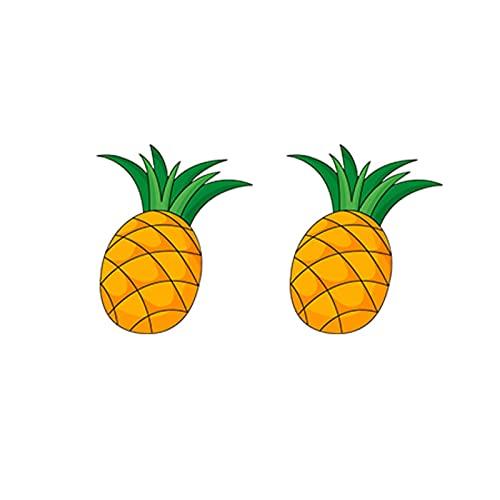 ZhenS Pendientes de acrílico de Hoja de Monstera, Zumo de Fruta de piña, sandía, plátano, aretes, Vacaciones de Verano, Pendiente epoxi-Estilo-F