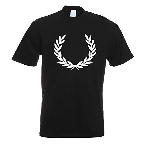 Lorbeerkranz Siegerkranz T-Shirt Motiv Bedruckt Funshirt Design Print