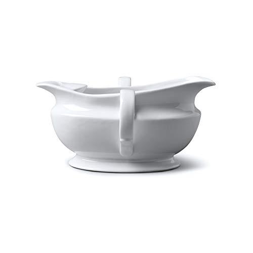 WM Bartleet & Sons 1750 T307 - Barco separador de grasa (porcelana, 500 ml), color blanco