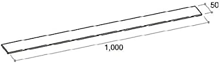 施工調整スペーサー 20枚(厚さ 1mm 幅 50×長さ 1000)(2K-29621) ホワイト