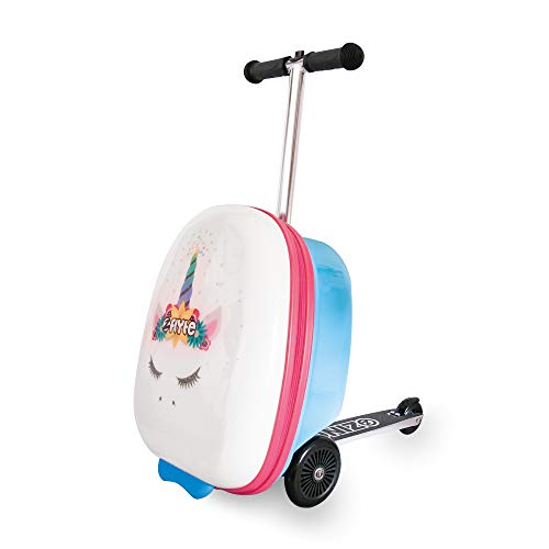 Learn More About ZincFlyte Kids Luggage Scooter 18 - Chloe The Unicorn Scooter