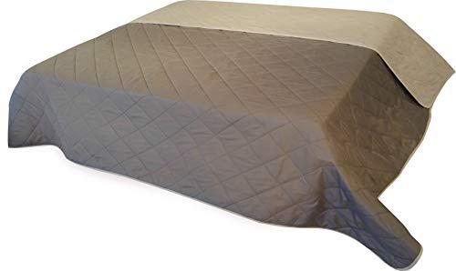 MB Warenhandel24 Tagesdecke XXL Allzweckdecke ca. 220x240 cm Patchwork Landhaus Sofa Bettüberwurf (Vintage Cappuccino)