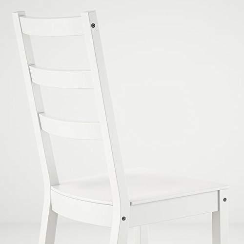 Tok Mark Traders NORDVIKEN - Silla, color blanco, 44 x 56 x 97 cm, resistente y fácil de cuidar, sillas de comedor, sillas, muebles ecológicos