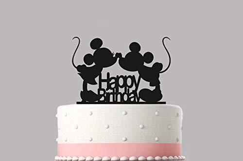 Verjaardag Cake Topper Mickey Mouse Acryl Taart Topper Verschillende kleuren & maten Hoge Kwaliteit Item Keepsake Niet Card-Stock.162
