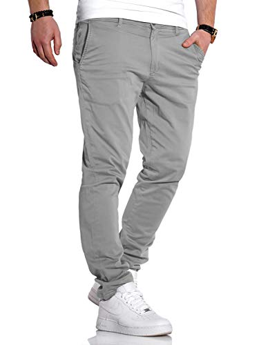 JACK & JONES Herren Chino Hose Chinos Herrenhose JJ Slim Fit (W32 L32, Limestone)