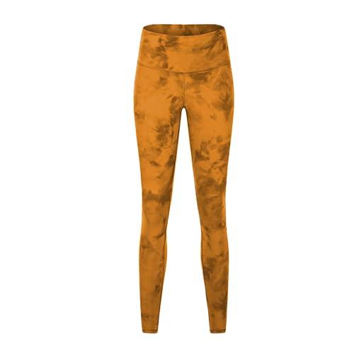 QTJY Pantalones de Yoga Suaves de Cintura Alta, Pantalones de chándal de Gimnasio para Mujeres, Pantalones de Fitness Protectores en Cuclillas, Pantalones de Yoga de Secado rápido elásticos HS