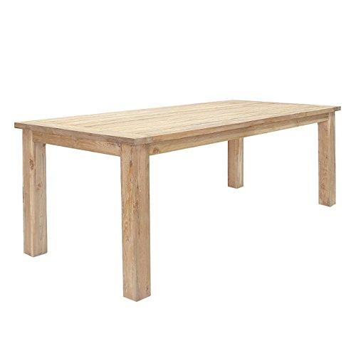 OUTLIV. Oxford Gartentisch 220x100cm aus recyceltem, FSC zertifiziertem Teakholz, jeder Tisch ist einzigartig